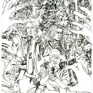 The Walking Dead issue #100 Variant Cover Inks
