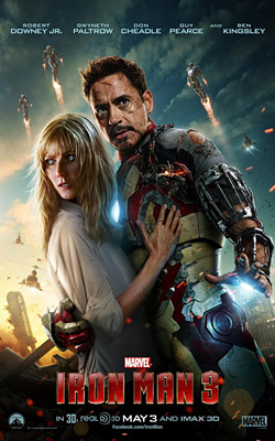 Robert Downey Jr. & Gwyneth Paltrow in Iron Man 3