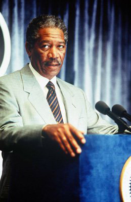 Morgan Freeman as President Beck