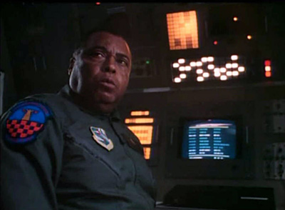"""James Earl Jones as Alice, yes really, Alice cause his plane is called """"The Looking Glass"""""""