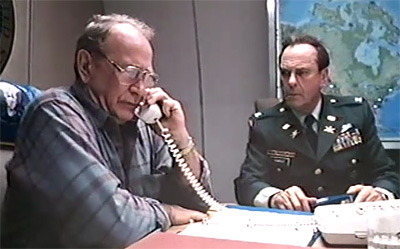 Darren McGavin as the Secretary of the Interior President and Rip Torn as Colonel Fargo