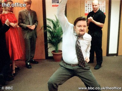 Ricky Gervais kicks out the jams in The Office