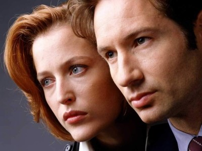 Fox Mulder and Dana Scully, David Duchovny and  Gillian Anderson respectively