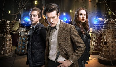 Matt Smith as Doctor Who and Karen Gillan and Arthur Darvill as his companions