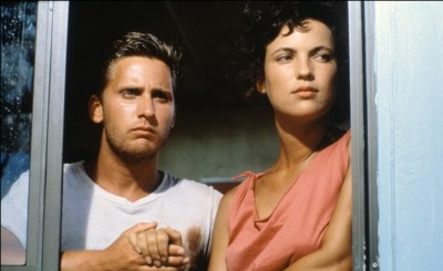 Emilio Estevez and Laura Harrington