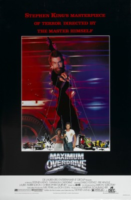 Deliciously campy Maximum Overdrive poster