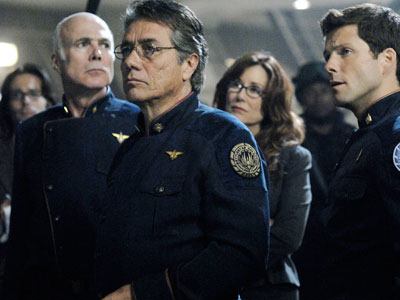 Michael Hogan, Edward James Olmos, Mary McDonnell and Jamie Bamber