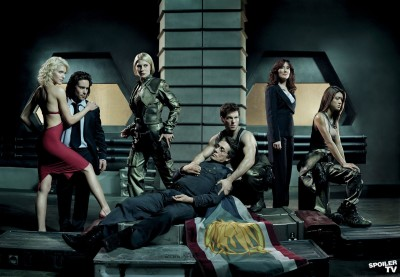 The cast of Battlestar Galactica