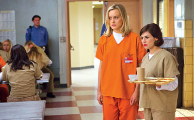 Taylor Schilling and Yael Stone in Orange is the New Black