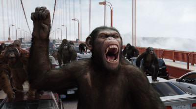 The apes revolt in Rise of the Planet of the Apes