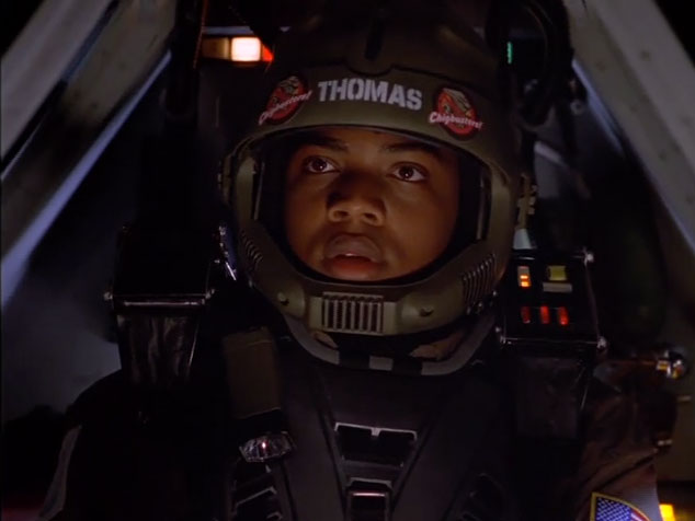 "J. August Richards (Deathlok in Agents of SHIELD) as a pilot of the 32nd ""Chigbusters"" squadron"