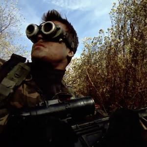 Hawkes wearing night vision