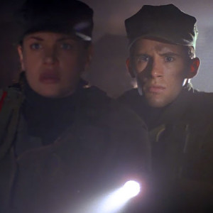 Shane Vansen and Nathan West in the tunnels of Daedalus