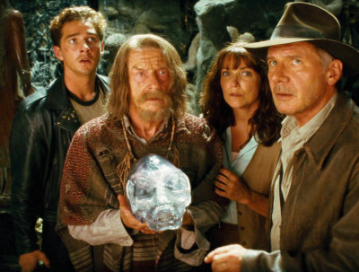 Shia LaBeouf, John Hurt, Karen Allen and Harrison Ford
