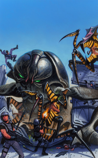 Den Beauvais Starship Troopers illiustration Dark Horse comics #2