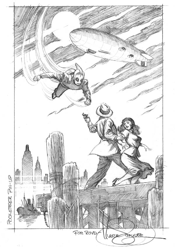 Mark Schultz Rocketeer pencil drawing