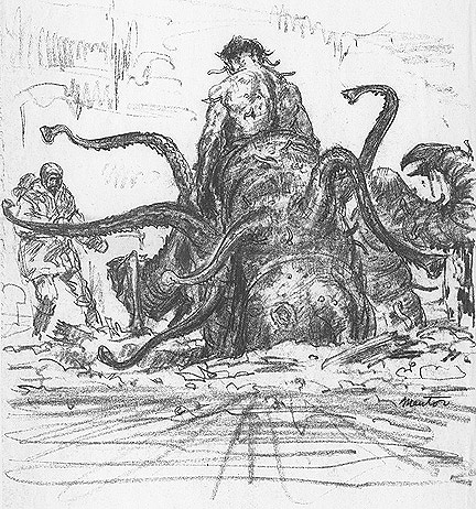 The Thing 1982 pre-production art