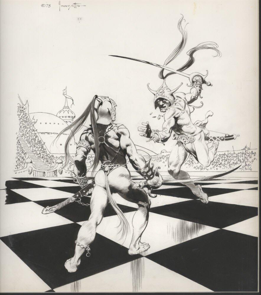 Frazetta chessmen of Mars